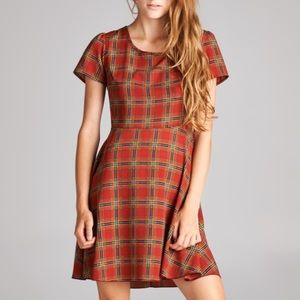 tea n rose Dresses - NEW Plaid Skater Dress